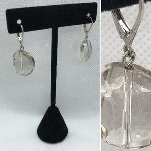 Jewelry - Clear lucite drop earrings